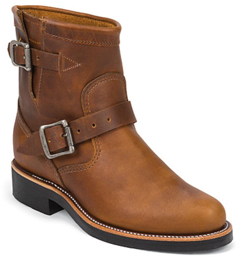 "Chippewa CHIPPEWA 7 ""Tan women's original Engineer Boots 1901W12"