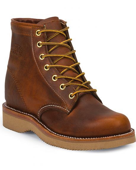 """Chippewa CHIPPEWA 6 """"Tan women's lace-up boots 1901W25"""