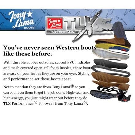 """토니 라마 Tony Lama 11 """"TLX 시리즈 초콜릿 ツクソン XT5000"""