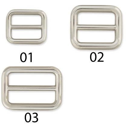 Three kinds of Strap Slide-Nickel Plate 11413 - strap width (14mm, 18mm,  25mm) with leathercraft materials leather tool metal fittings strap slide  one