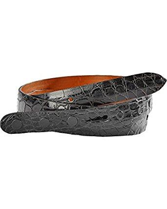 W03275 メンズ ブラック アリゲーター レザー ウエスタンベルト革 (サイズ:32~42インチ) ルケーシー【LUCCHESE】