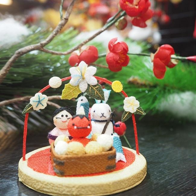 小さな四季の置き飾りシリーズ 節分 子供の手のひらに乗るくらい小さな置き飾り こんなに小さいのに作りはとっても繊細で驚くほどに丁寧 きれのはな 手作り ハンドメイド 兎 ウサギ うさぎ ちりめん細工 季節 小さな飾り物 手のひらサイズ 置物 ミニチュア 梅 にしん ミニサイズ セットアップ 可愛い 鬼 飾り 升 ちりめん コンパクト 豆 玄関 インテリア 『1年保証』 福
