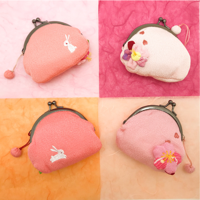 おすすめ 桜 春 うさぎ 兎 梅 桜のがまぐちパステル 財布 がまぐち 春財布 ピンク 無料