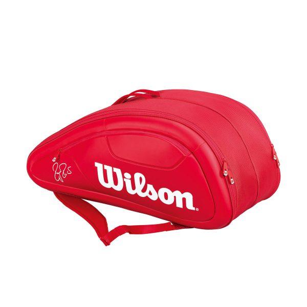 最大500円OFFクーポン付 ウイルソン ラケットバッグ フェデラー DNA 12パック テニス12本用 WRZ830712 バドミントン テニス ラケットケース バッグ 収納Wilson 2017SS ラッキーシール対応