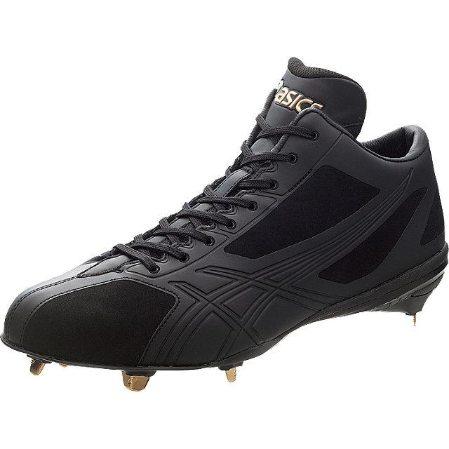 アシックス 野球スパイク<GOLDSTAGE> スピードテック QT3ブラック×ブラックSFST-5 送料無料ベースボール 野球スパイク金属製 合成樹脂底ASICS 2014SS