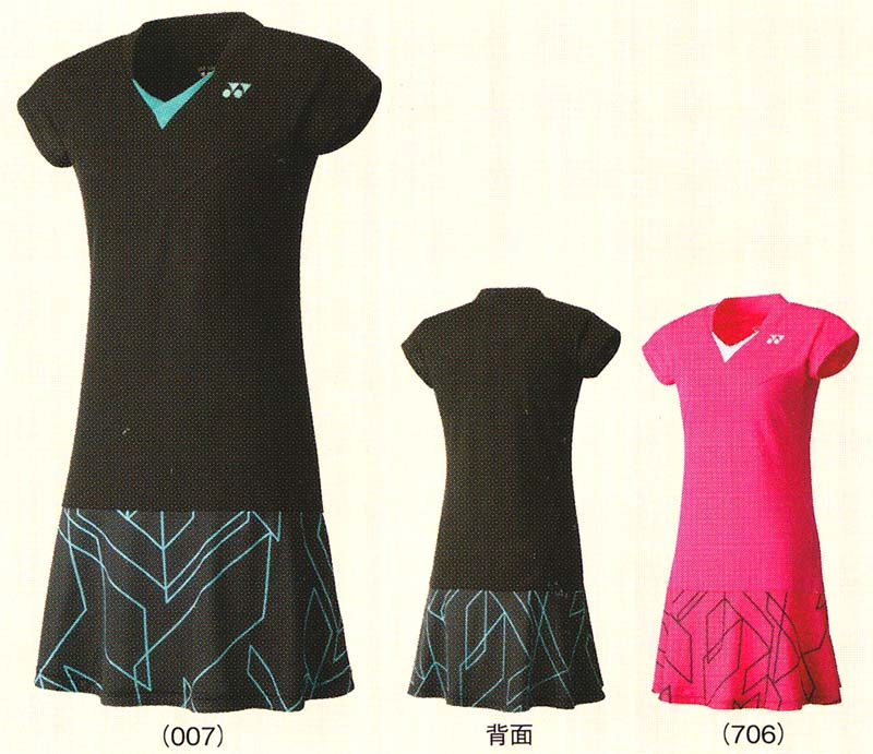 Yonex one-piece 20237 badminton tennis shirt short sleeve skirt ladies  Womens women's YONEX 2015 spring summer model importantly 4.