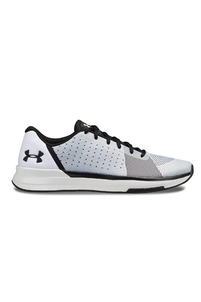 new style c744d c1651 Under Armour UA SHOWSTOPPER WHT BLK BLK 1,295,774-100 running jogging speed  model ...