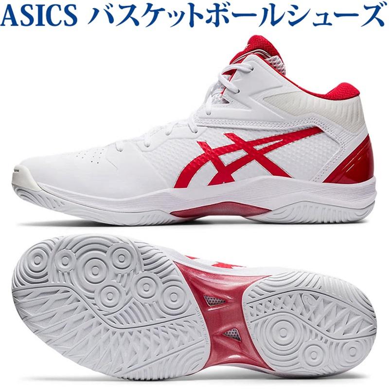 あす楽 アシックス バスケットボールシューズ ゲルフープV12 ホワイト/クラシックレッド 1063A021-102 ユニセックス 2020SS 同梱不可 RFCL