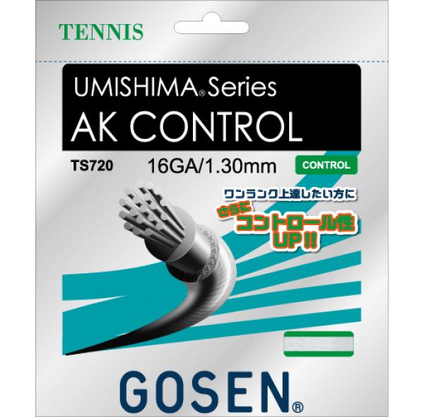 【取寄品】 ゴーセンAK CONTROL 16 AK コントロール 16 20張入 TS720W20Pテニス ストリング 硬式 20張入 GOSEN 送料無料