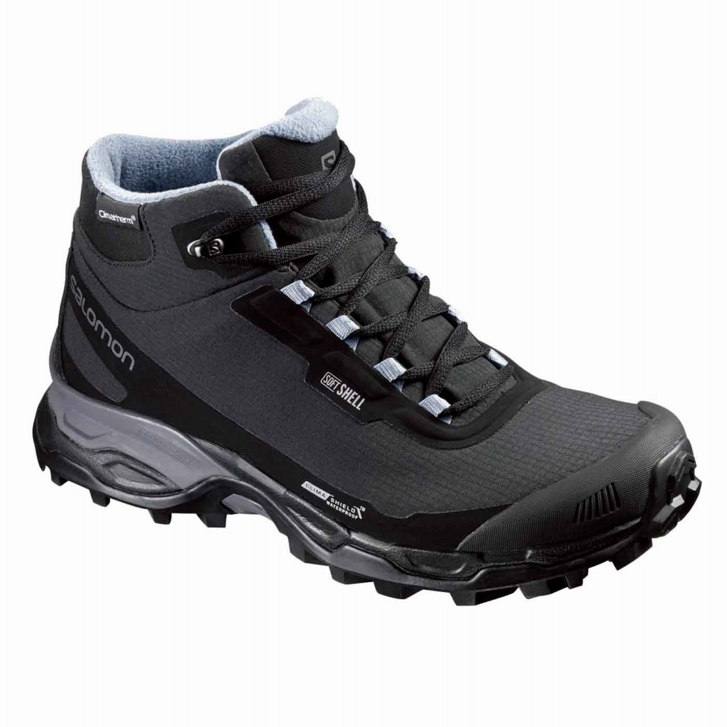 Salomon SHELTER SPIKES CS WP L39072800 winter boots shoes for winter winter rail shoes studded tires with SALOMON in 2016, autumn winter models