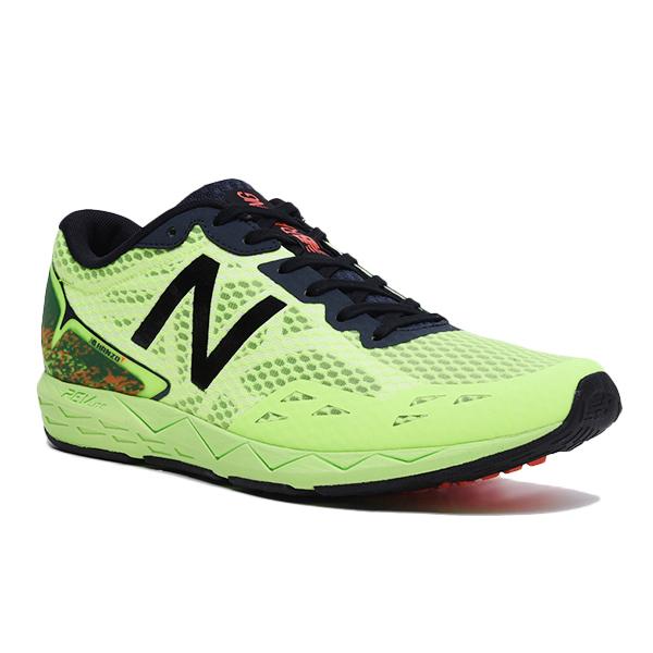 【在庫品】 ニューバランス HANZO T ライム/ブラック MHANZTL1ランニングシューズ ジョギング マラソンNewBalance 2017SS