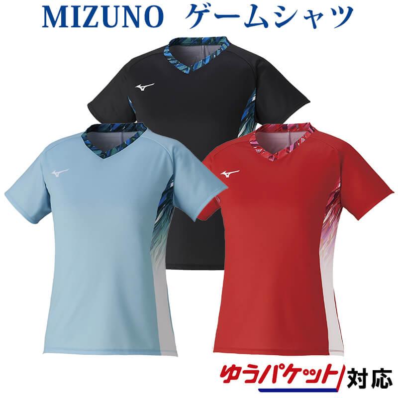 mizuno 女性用 ユニフォーム 半袖 ミズノ クイックドライゲームシャツ 72MA1223 レディース バドミントン 値下げ ゆうパケット 新商品 2021SS テニス ソフトテニス メール便 対応