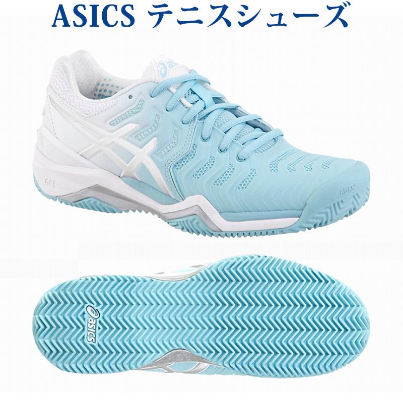 あす楽 アシックス テニスシューズ レディゲルレゾリューション 7 クレイ E752Y-1493 オムニクレー レディース 2018SS 同梱不可 RFCL