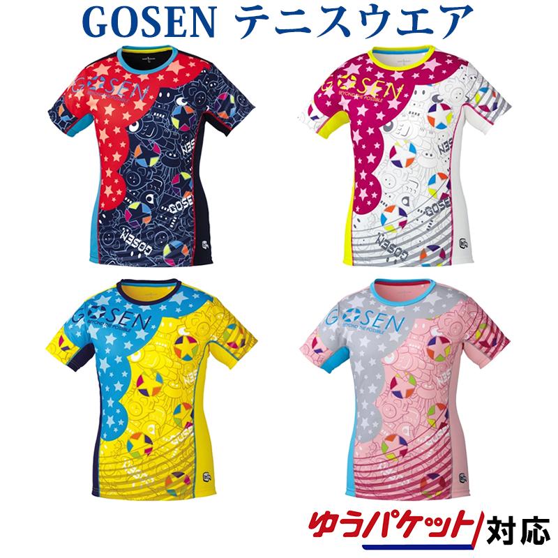 GOSEN ウェア バドミントン テニス ソフトテニス ゴーセン レディース ファンプラシャツ 対応 市販 ついに入荷 2018SS ゆうパケット メール便 UT1801
