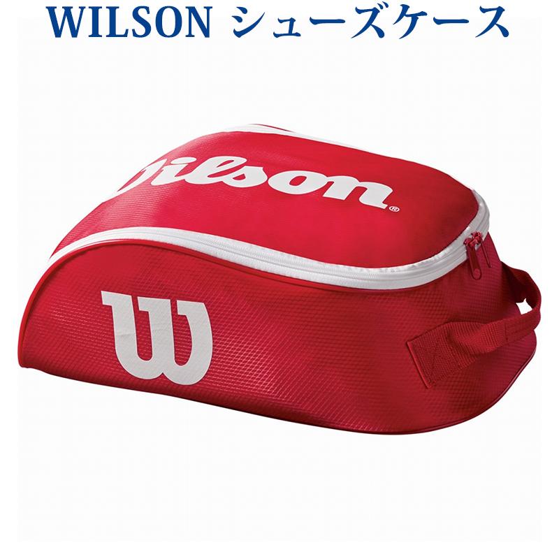 ウィルソン シューズケース ウイルソン ツアーシューバッグ4 レッド×ホワイト WRZ847887 2018SS