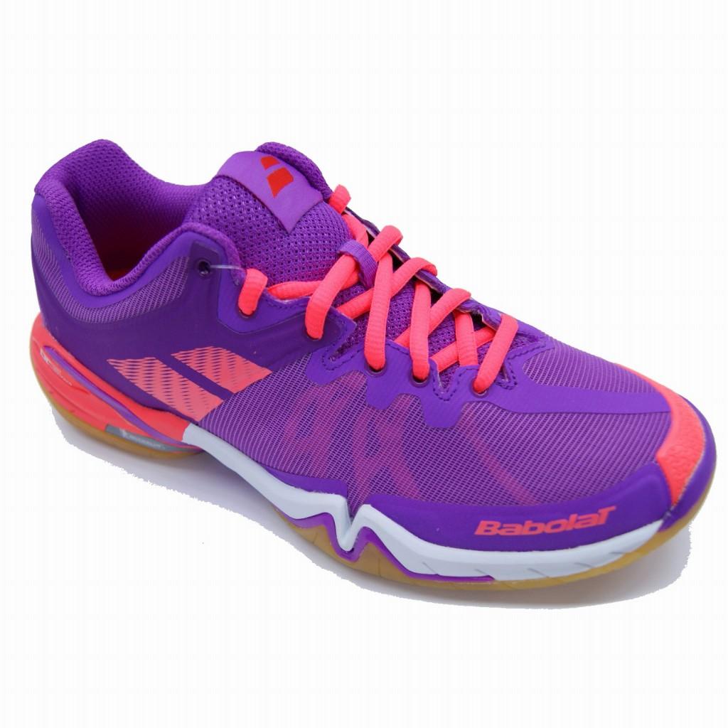供baborabadomintonshuzushadotsuauimenzu BASF-1686羽毛球鞋鞋女士女性使用的球拍体育Babolat 2016年春夏季款
