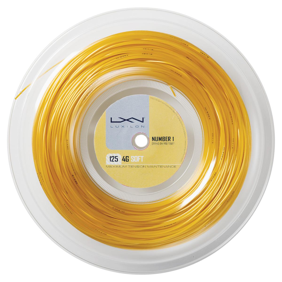 【在庫品】 ウイルソン 4G SOFT 125 REEL フォー・ジー・ソフト・125(REEL)WRZ990143硬式テニス テニスガット ストリング ロール