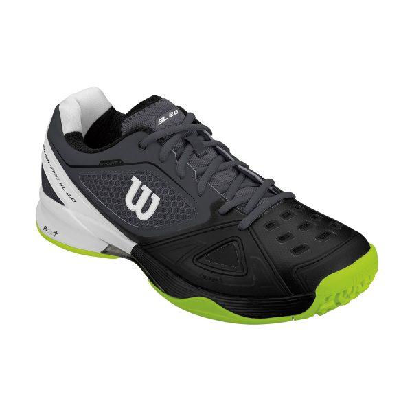 【在庫品】ウイルソン RUSH PRO SL 2.0 オールコート エボニーxブラックxライムパンチ WRS323610 テニス シューズ 2E オールコート ユニセックス メンズ Wilson 2017AW