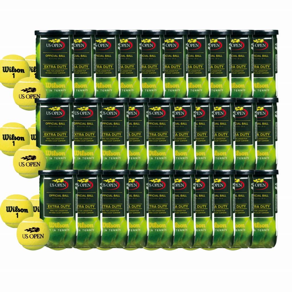 【在庫品】 ウイルソン 硬式テニスボール USオープン・エクストラ・デューティ wrt1000j-30 2球入30缶1箱(計60球)テニスボール 球