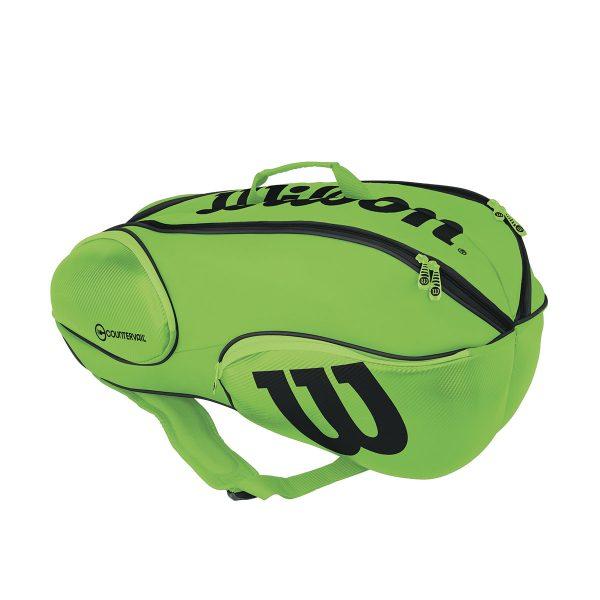 【在庫品】ウイルソン バンクーバー 9 PACK リバース ブレード グリーン/ブラック wrz845709 バドミントン テニス ラケットバッグ WILSON 2017AW
