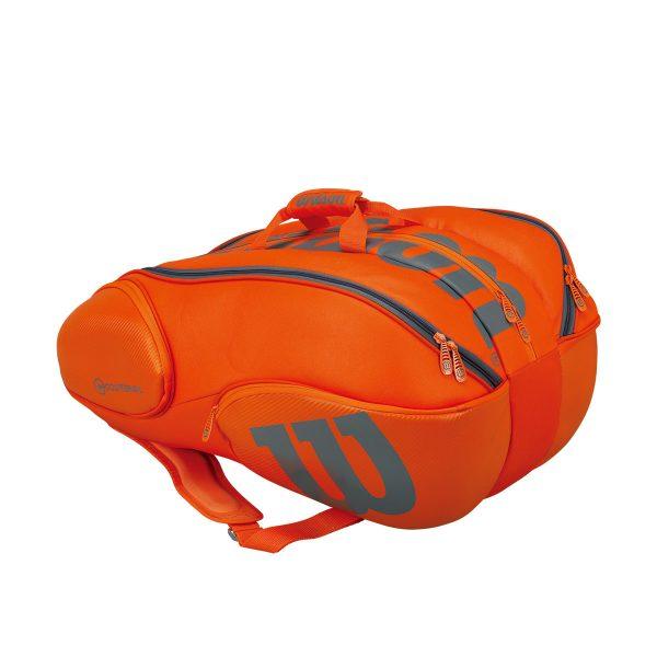 【在庫品】 ウイルソン バンクーバー・15PK バーン wrz849715 バドミントン テニス ラケット バッグ ラケットケース 収納 ラケット15本用 WILSON 2017SS