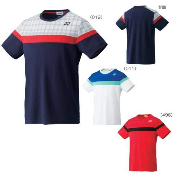 요넥스 UNI 셔츠 피트 스타일 10164 배드민턴 테니스 반소매 유니섹스 남녀 겸용 YONEX 2016년 가을 겨울 모델 하는 패킷 대응