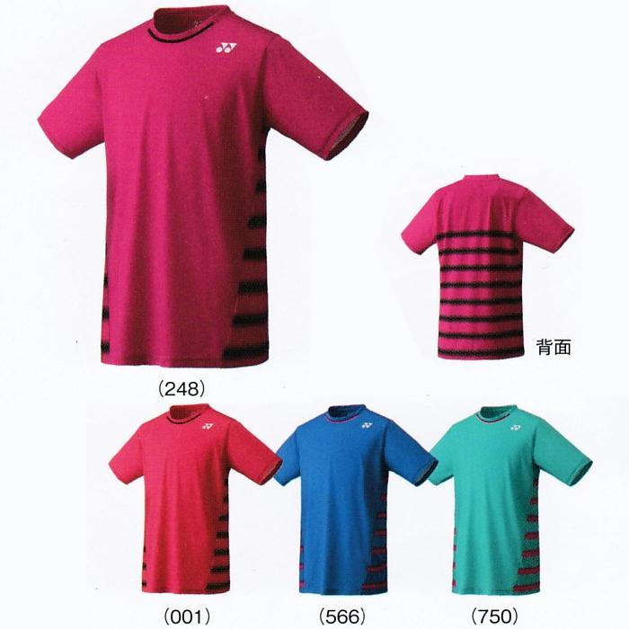 요넥스 UNI 셔츠 10166 토너먼트 스타일 테니스 웨어 맨즈 유니섹스 게임 셔츠 유니폼 YONEX 2017년 봄여름 모델 하는 패킷() 대응