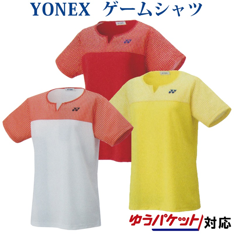 YONEX バドミントンウエア テニスウエア ユニフォーム 誕生日プレゼント シャツ 半袖 女性用 ヨネックス 物品 ゲームシャツ 20541 対応 バドミントン テニス 2020SS ゆうパケット メール便 レディース
