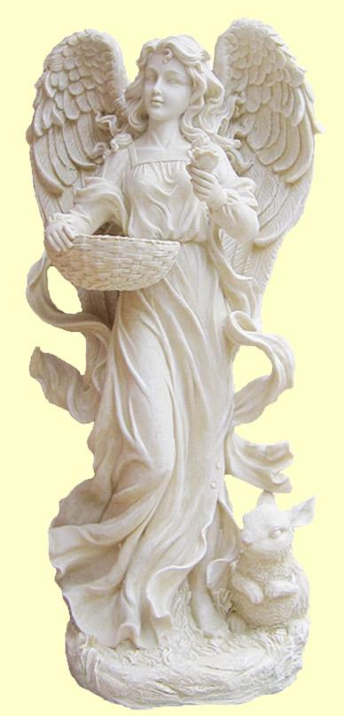 ガーデニング ガーデンオーナメント 置物 オブジェ かわいい 天使 エンジェル フェアリー インテリア 雑貨 樹脂【ラージエンジェルフィダーB (ラビット)】