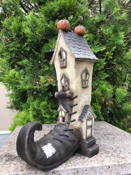 ハロウィン かぼちゃ パンプキン オーナメント ガーデニング ガーデン 置物 雑貨 グッズ【 ブーツハウス(LED) 】