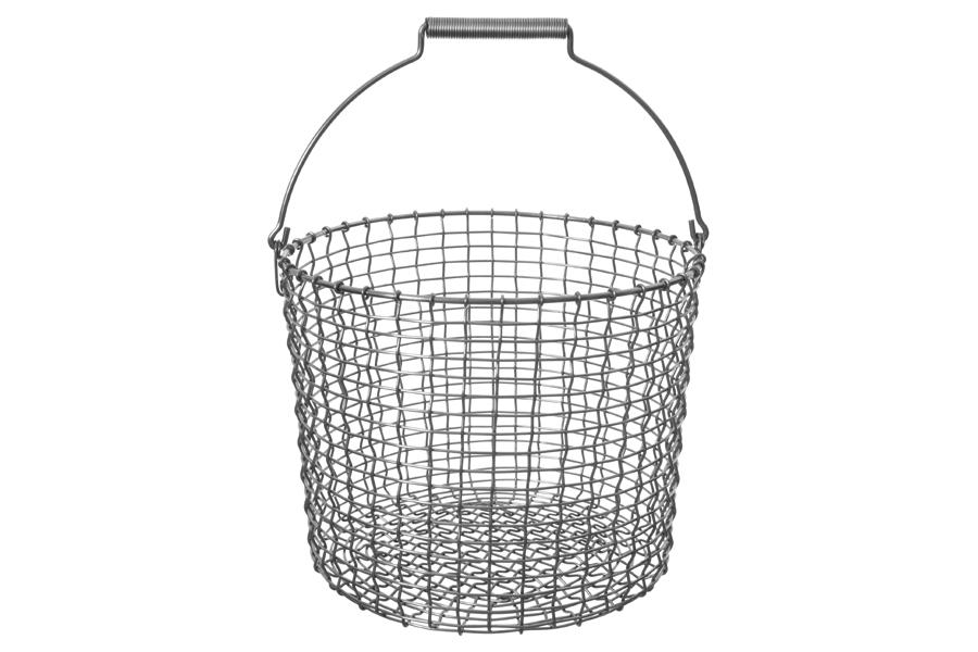 KORBOコルボ ワイヤーバスケット Bucket 20 アシッドプルーフ【北欧雑貨 かご スウェーデン ハンドメイド おしゃれ】