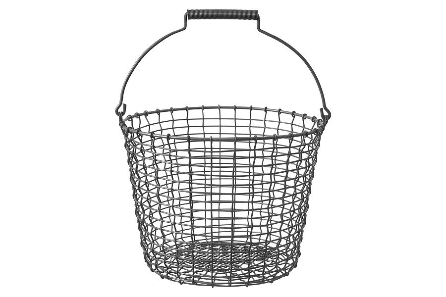 KORBOコルボ ワイヤーバスケット Bucket 16 アシッドプルーフ【北欧雑貨 かご スウェーデン ハンドメイド おしゃれ】