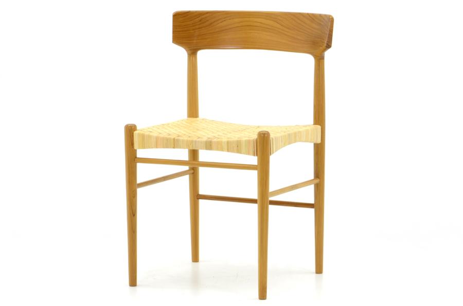 CHLOROSクロロス Rattan ダイニングチェア【ダイニングチェア デスクチェア パソコンチェア 椅子 北欧家具 デザイン チーク無垢材 チーク材 天然木 おしゃれ シンプル 高品質 おすすめ】