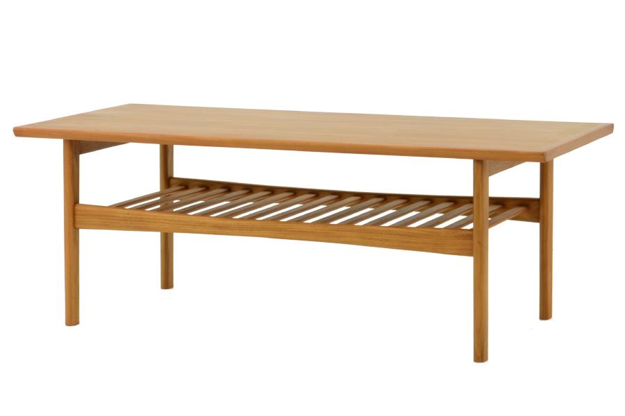 CHLOROSクロロス Foundation センターテーブル 128cm【ソファテーブル リビングテーブル カフェ 北欧家具 デザイン チーク無垢材 チーク材 天然木 おしゃれ シンプル 高品質 おすすめ】
