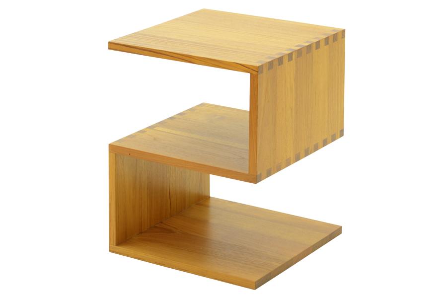 CHLOROSクロロス Assemble S サイドテーブル【サイドテーブル ナイトテーブル マガジンラック 北欧家具 デザイン チーク無垢材 チーク材 天然木 おしゃれ シンプル 高品質 おすすめ】