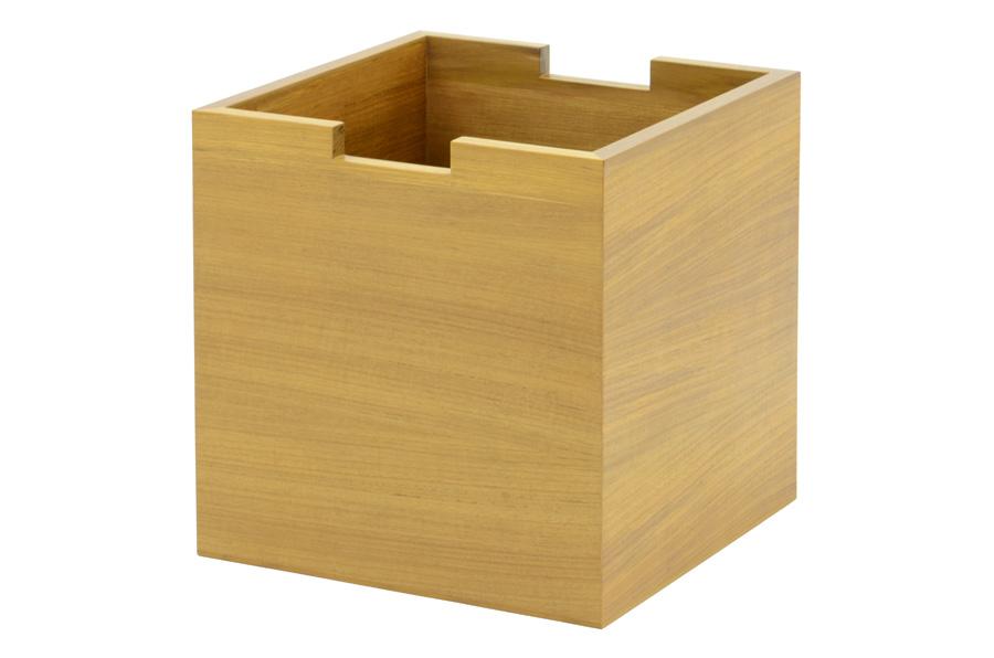 CHLOROSクロロス スクエアボックス for Sharp Edge【収納ボックス BOX キューブ おもちゃ箱 北欧家具 デザイン チーク無垢材 チーク材 天然木 おしゃれ シンプル 高品質 おすすめ】