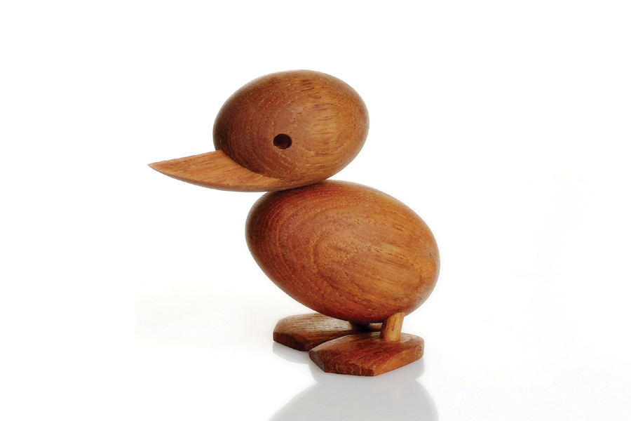ほぼ毎日ポイント10倍 送料395円 ARCHITECTMADEアーキテクトメイド Duckling Sサイズ 北欧雑貨 チーク材木製オブジェ 置物 デンマーク 高級な 子供 アヒル タイムセール ハンスブリング