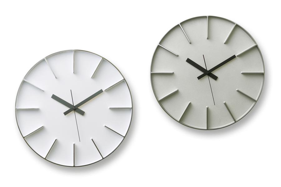 Lemnosレムノス 安積伸・安積朋子 レムノス シンプルなウォールクロック 直径35cm edge clock【Azumi モノトーン 北欧雑貨 インテリア 壁掛け時計 リビング雑貨 デザイン時計 デザイナーズ時計 おしゃれ】