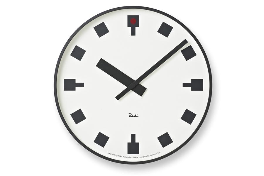 Lemnosレムノス 渡辺力 レムノス シンプルなウォールクロック 直径25cm 日比谷の時計【モノトーン 北欧雑貨 インテリア 壁掛け時計 リビング雑貨 デザイン時計 デザイナーズ時計 おしゃれ】