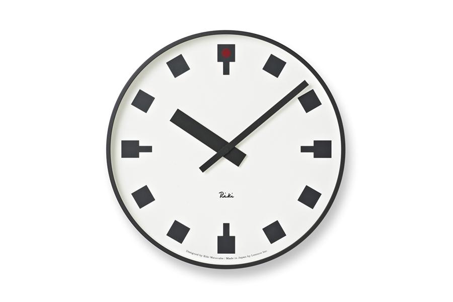 Lemnosレムノス 渡辺力 レムノス シンプルなウォールクロック 直径20cm 日比谷の時計【モノトーン 北欧雑貨 インテリア 壁掛け時計 リビング雑貨 デザイン時計 デザイナーズ時計 おしゃれ】