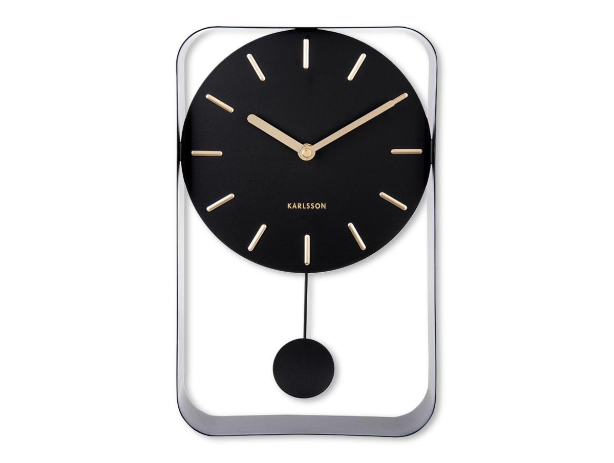 KARLSSONカールソン 掛け時計 ウォールクロック Pendulum Charm Small ブラック 振り子時計 北欧 オランダ デザイン時計 インテリア アウトレットセール 特集 KARLSSON 公式ショップ おしゃれ モノトーン カールソン シンプル リビング雑貨 モノクロ デザイナーズ