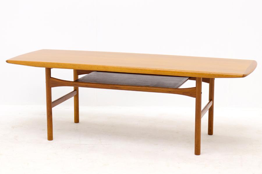 デンマーク製 センターテーブル 幅153cm 北欧ビンテージ家具【アンティーク ソファテーブル コーヒーテーブル おしゃれ】