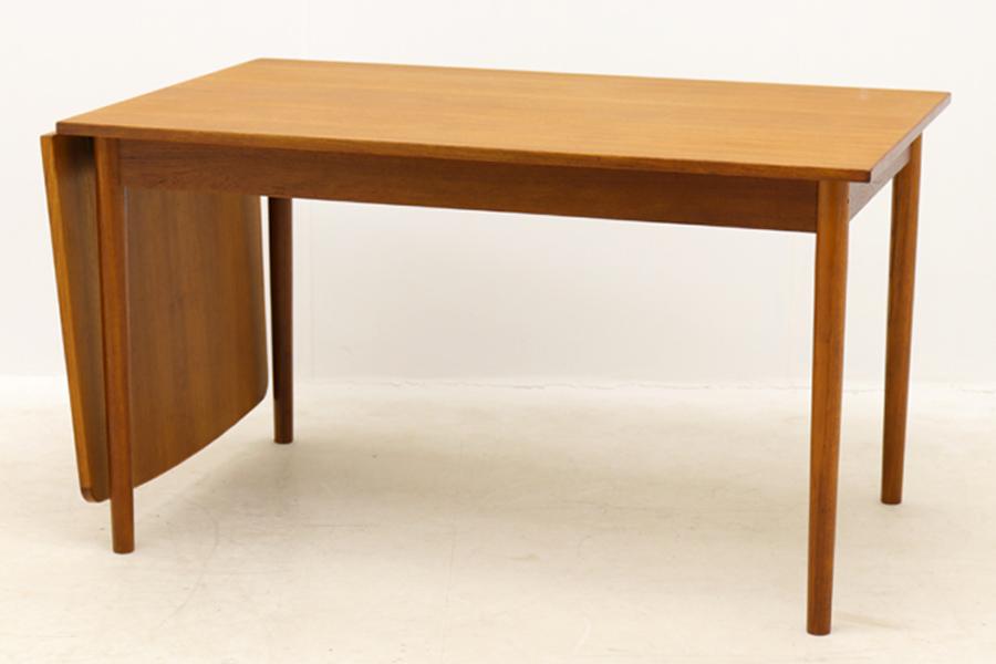 デンマーク製 エクステンションバタフライダイニングテーブル 133cm 北欧家具ビンテージ【アンティーク チーク材 おしゃれ 北欧インテリア リビング】