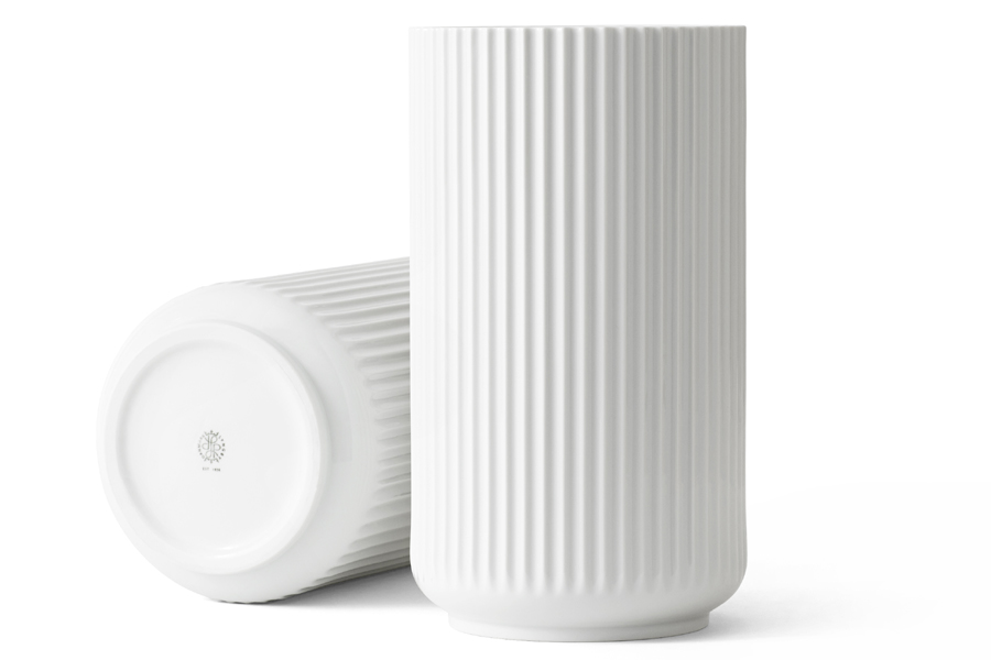 Lyngby Porcelain(リュンビュー・ポーセリン) ベース 31cm ホワイト【北欧雑貨 フラワーベース 花瓶 デンマーク 陶器 モダン リビング モノトーン おしゃれ】