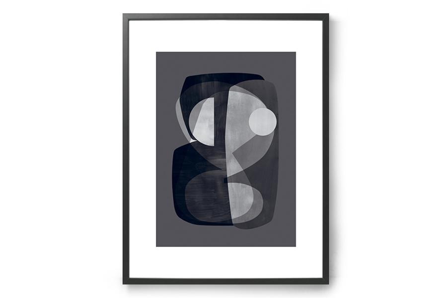 ATELIER CPH ポスター/アートプリント 50×70cm Abstract construction【イラスト インテリア 北欧雑貨 おしゃれ 壁掛け 絵画 パネル モダン モノクロ モノトーン デンマーク】