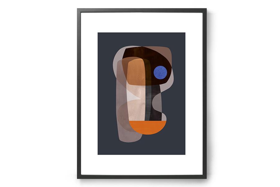 ATELIER CPH ポスター/アートプリント 50×70cm Abstract cubism【イラスト インテリア 北欧雑貨 おしゃれ 壁掛け 絵画 パネル モダン モノクロ モノトーン デンマーク】