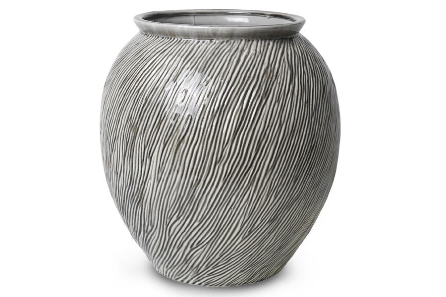 Broste Copenhagenー 陶磁器製のフラワーベース SANDY Lサイズ 高さ42cm スモークパール【北欧雑貨 デンマーク 花瓶 リビング雑貨 置物 おしゃれ モノトーン フラワーベース】