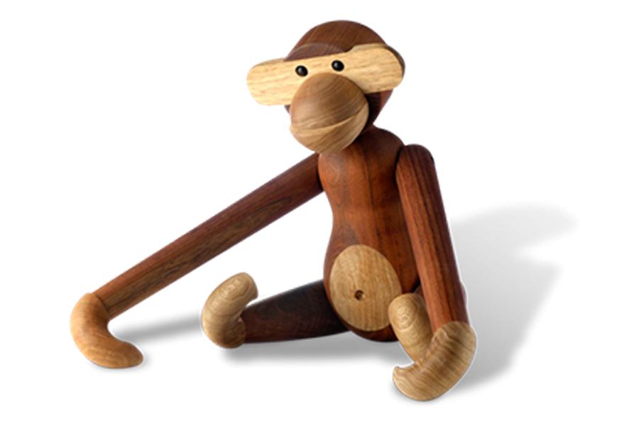 KAY BOJESEN DENMARK カイ・ボイスン デンマーク モンキー Sサイズ【北欧雑貨 チーク材 木製オブジェ サル 動物 置物 子供 ギフト】