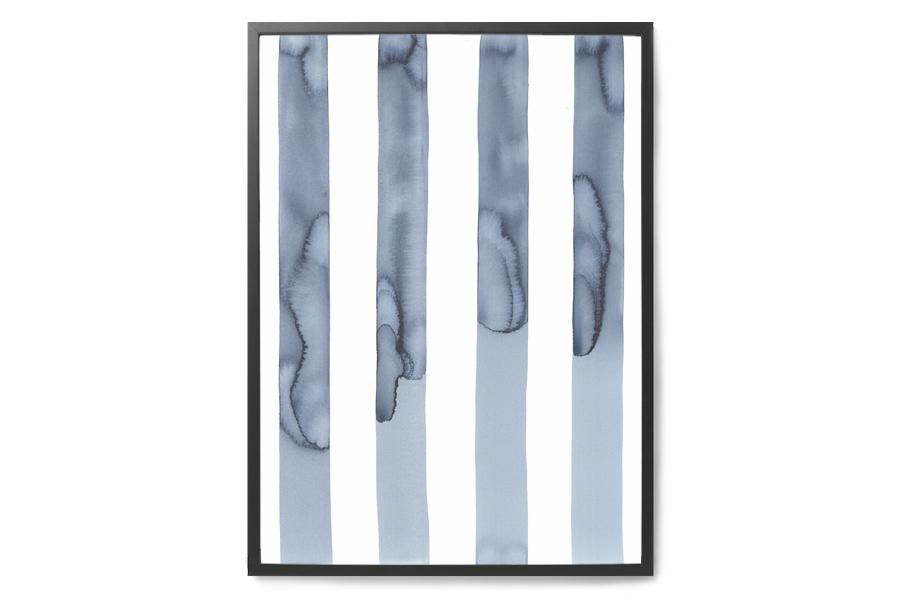 silke bonde ポスター/アートプリント 50×70cm Silent【イラスト インテリア 北欧雑貨 おしゃれ 壁掛け 絵画 パネル モダン モノクロ モノトーン】