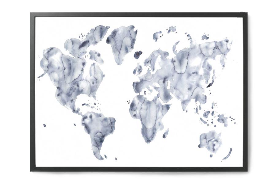 【2019正規激安】 silke bonde ポスター 絵画/アートプリント 50×70cm Blue モノクロ world【イラスト インテリア world【イラスト 北欧雑貨 おしゃれ 壁掛け 絵画 パネル モダン モノクロ モノトーン】, コスメ ディアレスト:04bc6af7 --- totem-info.com